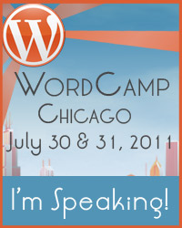 "Badge for ""I'm speaking at WordCamp Chicago!"""