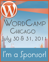 "badge for ""I'm a proud sponsor of WordCamp Chicago!"""